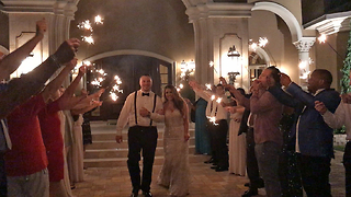 Wedding Sparkler Grand Exit at Casa Bella Estate  - Video