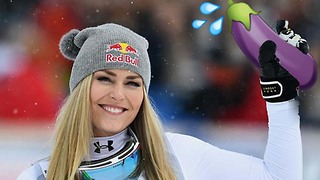 Lindsey Vonn Searches for Some Valentine's D at the 2018 Winter Olympics - Video