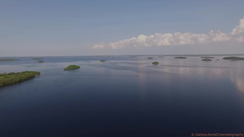 Irish lake home to hundreds of islands
