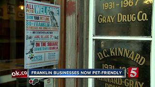 Franklin Downtown Businesses Offer More Possibilities For Pets - Video