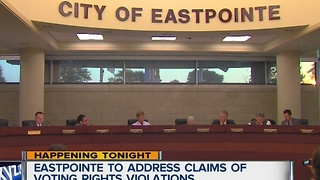 Eastpointe to address claims of voting rights violations - Video