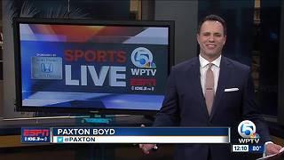 Paxton Boyd Honda Five Sports Live Sportscast on WPTV - Video
