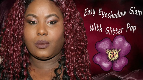 Easy Eyeshadow Glam With Glitter Pop
