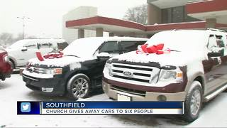 Church gives away cars to six deserving people - Video