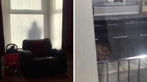 MUM'S UNEARTHLY FOOTAGE CAPTURES LATE DAD WATCHING OVER HOUSE