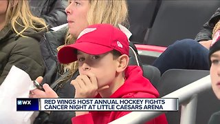 Red Wings host annual hockey fights cancer night at Little Caesars Arena