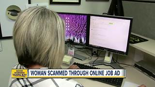 Pinellas County woman warns about online job scams after losing thousands of dollars - Video