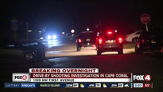 Drive-by shooting investigation in Cape Coral