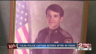 Tulsa police captain retires after 44-years