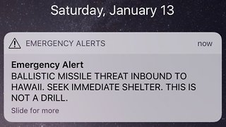 Hawaii Got An Alert For An Inbound Ballistic Missile — But It Was Fake - Video