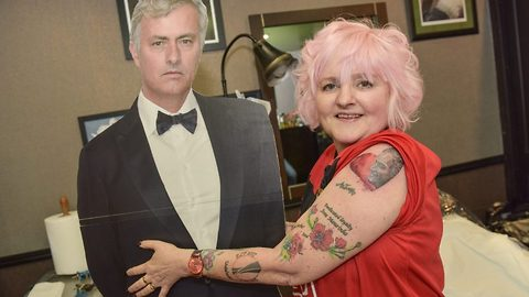 Mour mour mour! Mourinho obsessed grandma gets 35th tattoo of football manager for valentines day