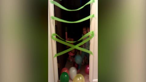 Tot Girl Doesn't Like Her Birthday Surprise