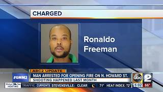 Arrest made in shooting on N. Howard St. - Video