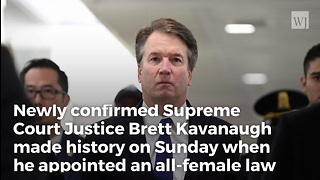 Kavanaugh Makes History with First Official Action on Supreme Court - Video