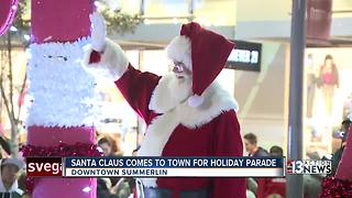 Santa comes to town for Summerlin parade - Video