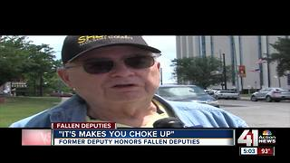 Former deputy honors fallen - Video