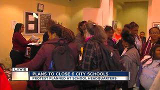 Protest planned after six Baltimore schools up for closure - Video