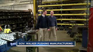Gov. Walker pushing manufacturing to young people - Video