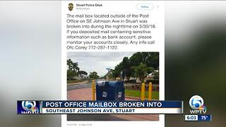 Mail stolen from mail box outside Stuart post office - Video