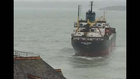 Operation Underway to Rescue Russian Ship Run Aground Off Cornwall