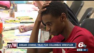 Dream comes true for Columbus wrestler