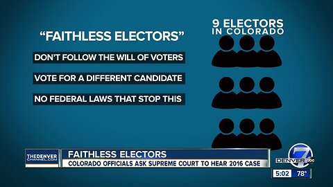 Colorado officials ask SCOTUS to hear faithless electors case