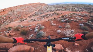 Best MTB Trail Features in Southern Utah - Dino Cliffs Step Down