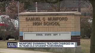 Mumford swimming teacher charged in 15-year-old student's drowning