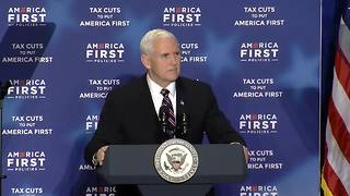 Vice President Pence talks more about tax cuts - Video