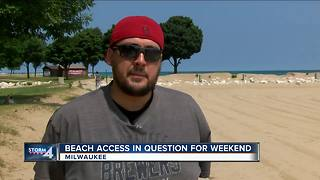 Milwaukee beaches closed/under advisory ahead of hot weekend - Video