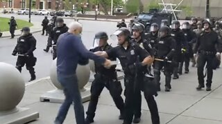 2 Buffalo Police Officers Suspended After Shoving Man To The Ground