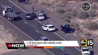 Motorcyclist dies following crash on I-10 near Queen Creek - Video