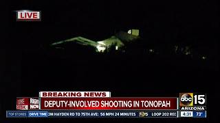 MCSO deputy involved in shooting in Tonopah - Video