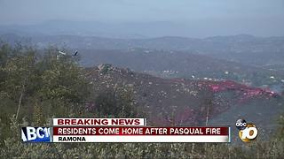 Neighbors return home after Pasqual fire - Video