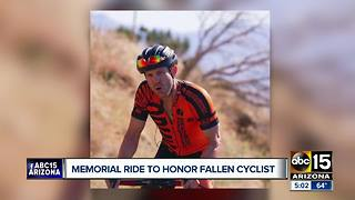 Community gathering to honor fallen cyclist - Video