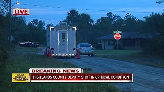 Highlands County deputy shot in critical condition