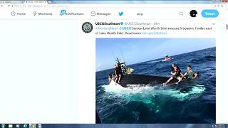 Boaters rescued off Lake Worth inlet - Video