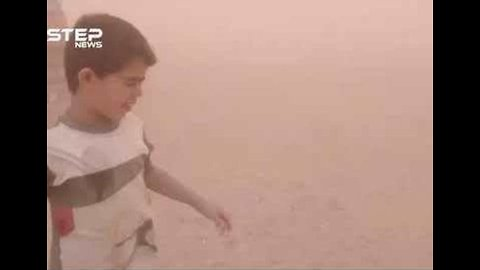 Sandstorm Hits Beleaguered Refugee Camp at Syria-Jordan Border