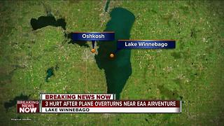 Three injured near EAA AirVenture after seaplane overturns - Video