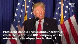 Trump Announces Broadcom Returning Company Headquarters Back to US - Video