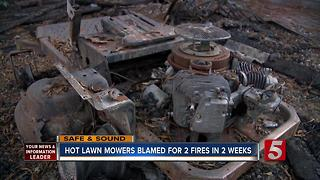 Fire Crews Warn About Fire Danger from Hot Lawn Mowers - Video