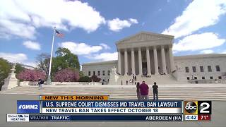 Supreme Court dismisses 1 of 2 travel ban cases - Video