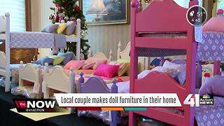 Retired couple makes doll furniture out of home - Video