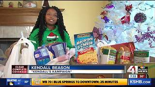 'Kendall's Kampaign:' Little girl helps feed KCK community - Video