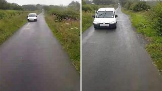 'Worst reversing fail ever' as pensioner takes 10 attempts to back up straight road - Video