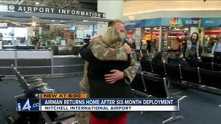 Airman returns home after six months
