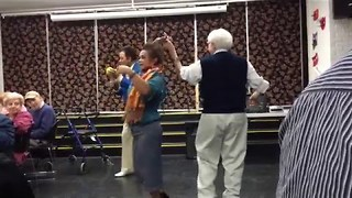 Check Out this Senior Citizen's Slick Moves with the Ladies - Video