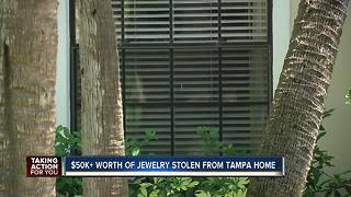 Woman missing more than $50k of jewelry from Tampa home after burglary - Video
