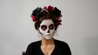 Makeup by Claire Rene turn someone into a skeleton for Halloween - Video