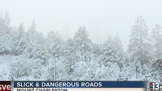 Winter storm warning in effect on Mount Charleston - Video